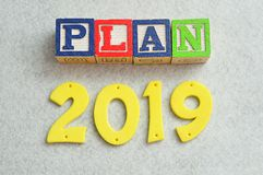 Plan 2019 Images stock