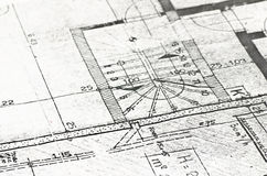 Plan. Of building a house Stock Images