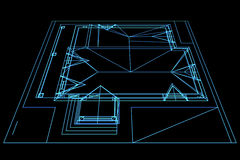 Plan. Abstract drawing house plan. Architectural 3d illustration Stock Photo