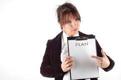 Plan #6 stock photo
