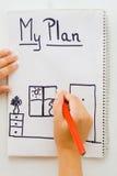 plan Royaltyfri Fotografi