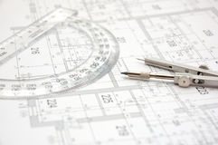 Plan 8 de construction image stock