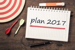 Plan 2017 Obraz Stock
