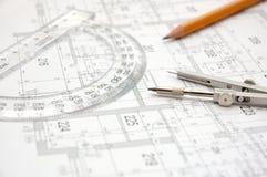Plan 9 de construction Photo libre de droits