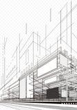Plan abstracto de la arquitectura ilustración del vector