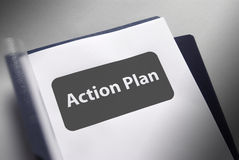 Plan of action document Stock Photos