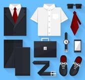Plan affärssamlingsklänning svart färg Arkivfoto