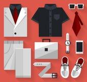 Plan affärssamlingsklänning Vit färg Royaltyfri Foto