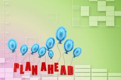 Plan ahead with balloons Illustration Stock Photography