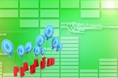 Plan ahead with balloons Illustration Stock Image