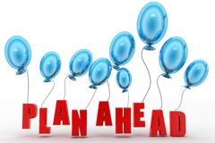 Plan ahead with balloons Royalty Free Stock Photos
