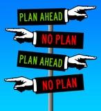 Plan ahead stock illustration