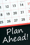 Plan Ahead! Royalty Free Stock Photos
