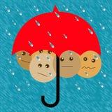 Plan ahead umbrella Stock Photography