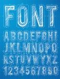 Plan alphabet design font Stock Images