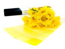 Plan amarillo brillante de la pintura Imágenes de archivo libres de regalías