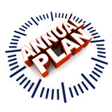 Plan anual Fotografía de archivo
