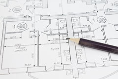 Plan of apartment Royalty Free Stock Images