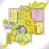 Plan of apartment Royalty Free Stock Photography