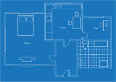 Plan of apartment Stock Photography