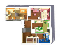 Plan of apartment Stock Photos