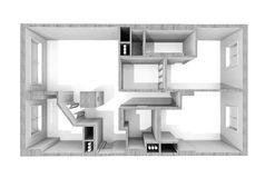 Plan in the apartment Royalty Free Stock Photo