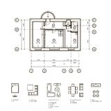 Plan of the apartment Royalty Free Stock Photo