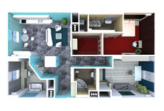 Plan in the apartment Royalty Free Stock Image