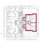 Plan of the architect on white bakcground, scanned. Plan of the architect, scanned Stock Photos