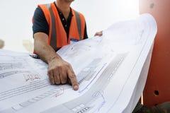 Plan-Architekten-Career Structure Constructions-Konzept Lizenzfreie Stockfotografie