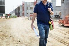 Plan-Architekten-Career Structure Constructions-Konzept Lizenzfreies Stockfoto