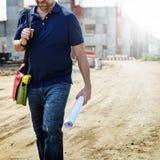 Plan-Architekten-Career Structure Constructions-Konzept Lizenzfreies Stockbild