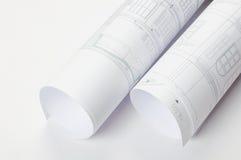 plan architektoniczne rolki Obraz Royalty Free