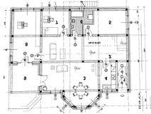 Plan arquitectónico stock de ilustración