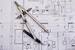 Plan arquitectónico foto de archivo libre de regalías