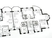 Plan arquitectónico Imagen de archivo libre de regalías