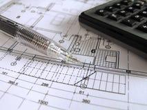 Plan arquitectónico Imagen de archivo