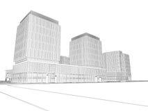 Plan arquitectónico del wireframe ilustración del vector