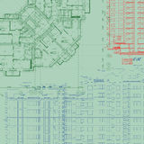 Plan arquitectónico detallado Imágenes de archivo libres de regalías