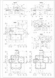 Plan arquitectónico detallado ilustración del vector