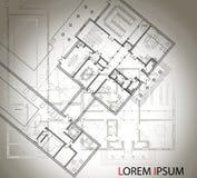 Plan arquitectónico detallado de la casa grande con otro esquema en el fondo Visión superior Imag aislado blanco y negro del vect libre illustration