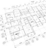 Plan arquitectónico detallado, opinión de perspectiva libre illustration