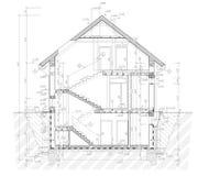 Plan au sol de la construction plate Photo libre de droits