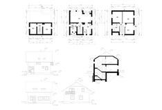 Plan au sol de la construction plate Photographie stock