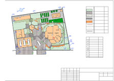 Plan av trädgårds- land Royaltyfri Foto
