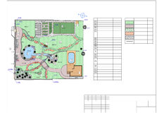 Plan av trädgårds- land Arkivbild