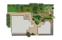 Plan av trädgårds- land Royaltyfria Foton