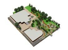 Plan av trädgårds- land Royaltyfri Bild
