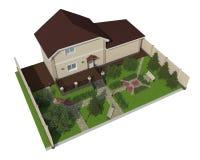 Plan av trädgårds- land Arkivfoto