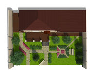 Plan av trädgårds- land Royaltyfria Bilder